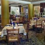 Indoor dining area at Bistecca
