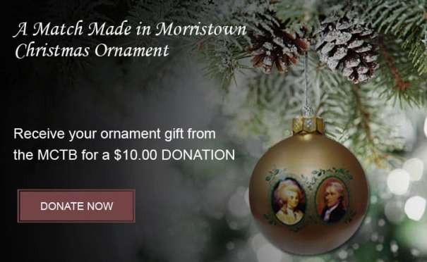 Morristown Christmas Ornament donation page
