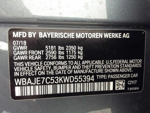 2019 BMW 5 Series 540i xDrive Sedan in Morristown, NJ ...