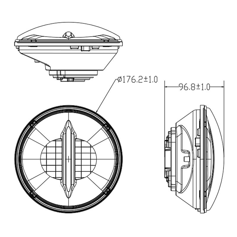 China 7 Inch Motorcycle Headlight Suppliers, Manufacturers