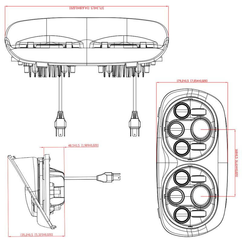 China Motorcycle Double Headlight Suppliers, Manufacturers