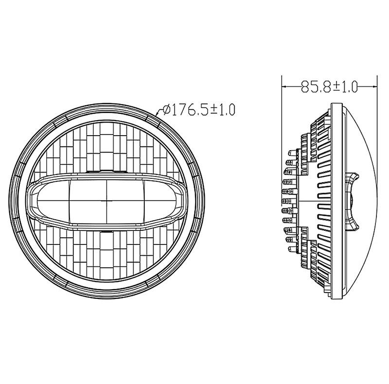 China Daymaker Motorcycle Headlight Suppliers