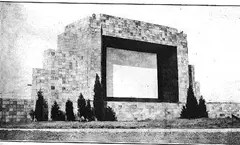 Screen of the first Drive in Movie Theater