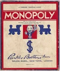 1937 Monopoly Game Box