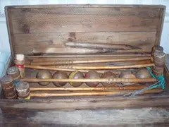 Old croquet set
