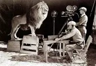 Filming and recording the MGM Lion
