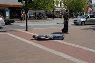 Planking on the street