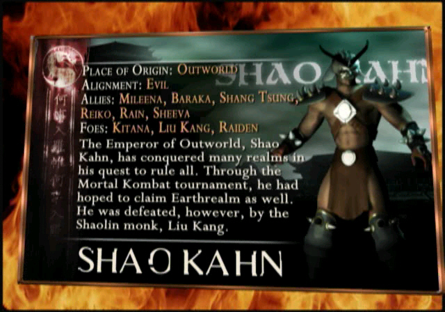 MKWarehouse Mortal Kombat Deception Shao Kahn
