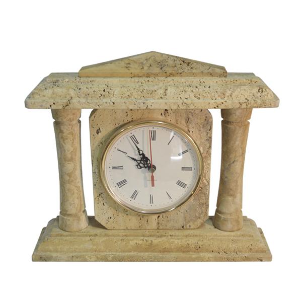 reloj piedra travertino. De Columnas
