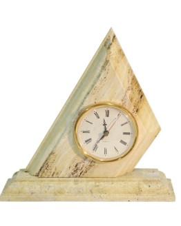 reloj triángulo travertino