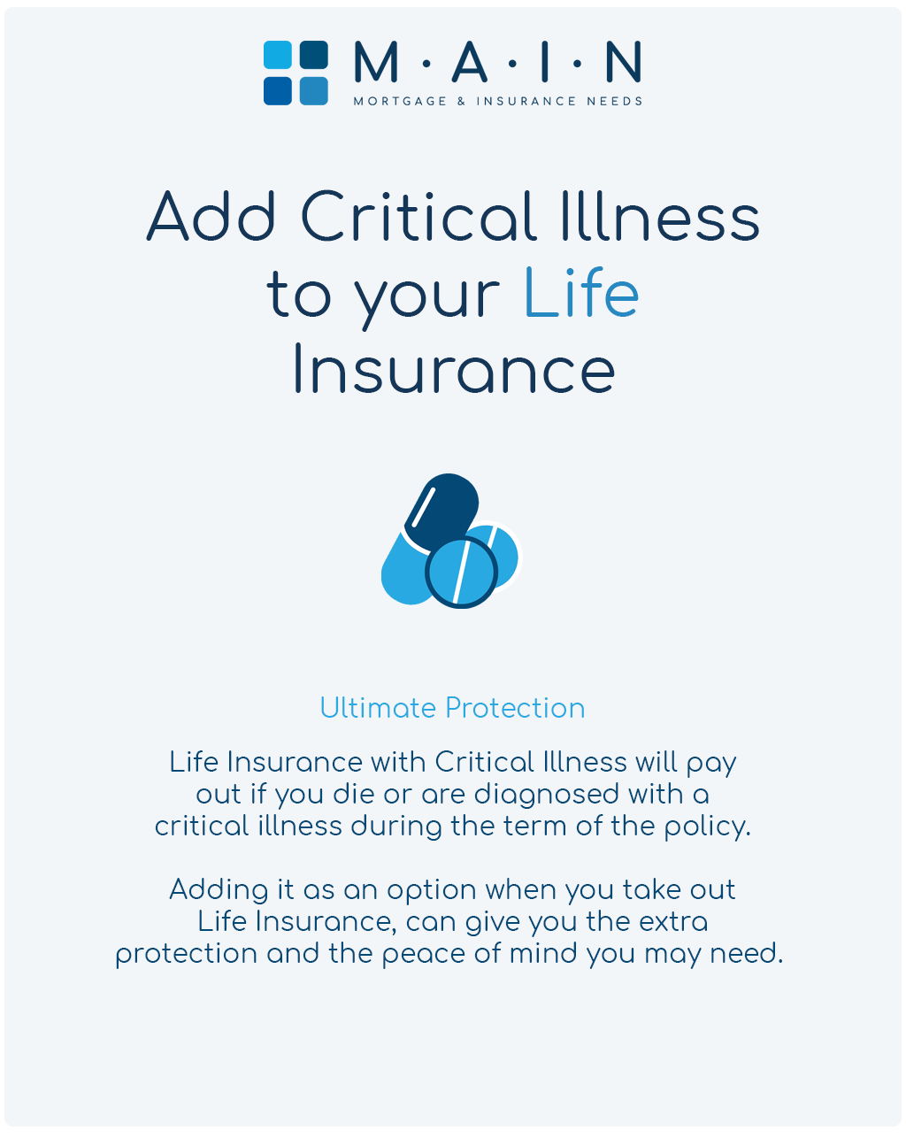 Add critical illness cover to your life insurance