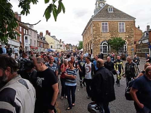 Visitors crowd the town during this year's Brackley Festival of Motorcycling.