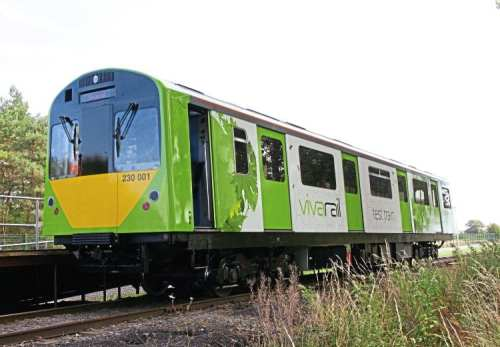 One of the Class 230 DMU vehicles on test at Long Marston, Warwickshire. CHRIS MILNER