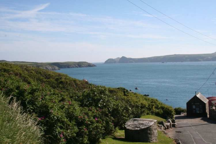 Made it – the view from the end of Wales' western-most road