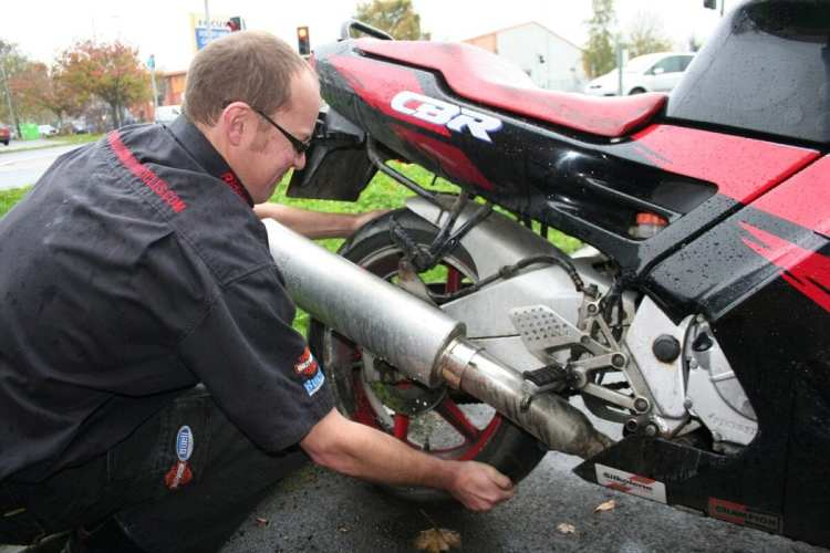 Checking rear wheel bearings
