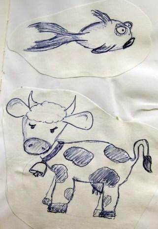 Die Zeichnungen entstanden während ich mit Yanni im Krankenhaus war