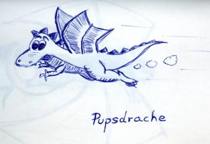 Pupsdrache - fliegt mit Pupsantrieb