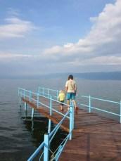 Am Camp Peshku / Ohridsee