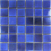 Ceramic Mosaic Tiles Blue Uni Backsplash