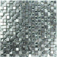 Glass Natural Stone Mosaic Tiles Silver | mosafil.co.uk