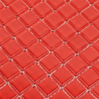 Crystal Glass Mosaic Tiles Red Pure - TM33282m