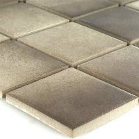 Ceramic Mosaic Tiles Non-Slip Beige Brown - 1 Sheet | eBay