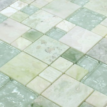 carrelage mosaique onyx larinera vert or mix