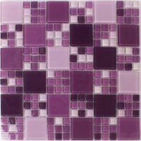 Glass Mosaic Tiles Purple Mix - RAN48026