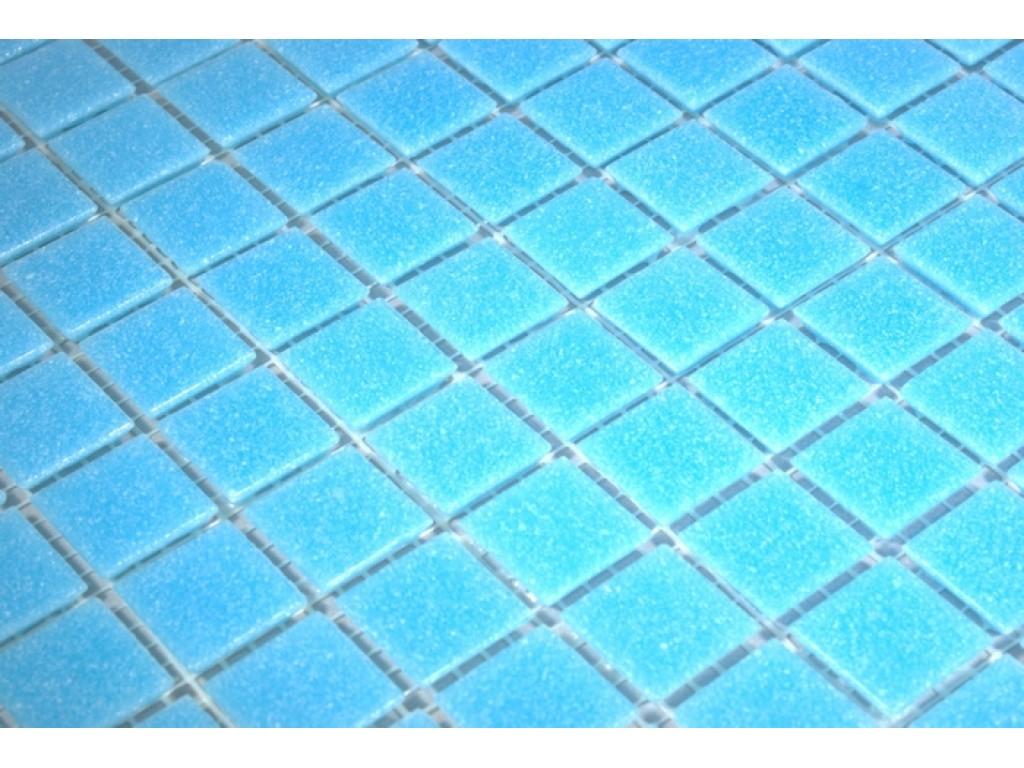 classic glass mosaic light blue