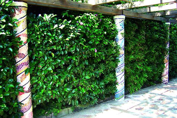 Garden área with columns, 25cm diameter, banquet hall Can Berardo, Barcelona.