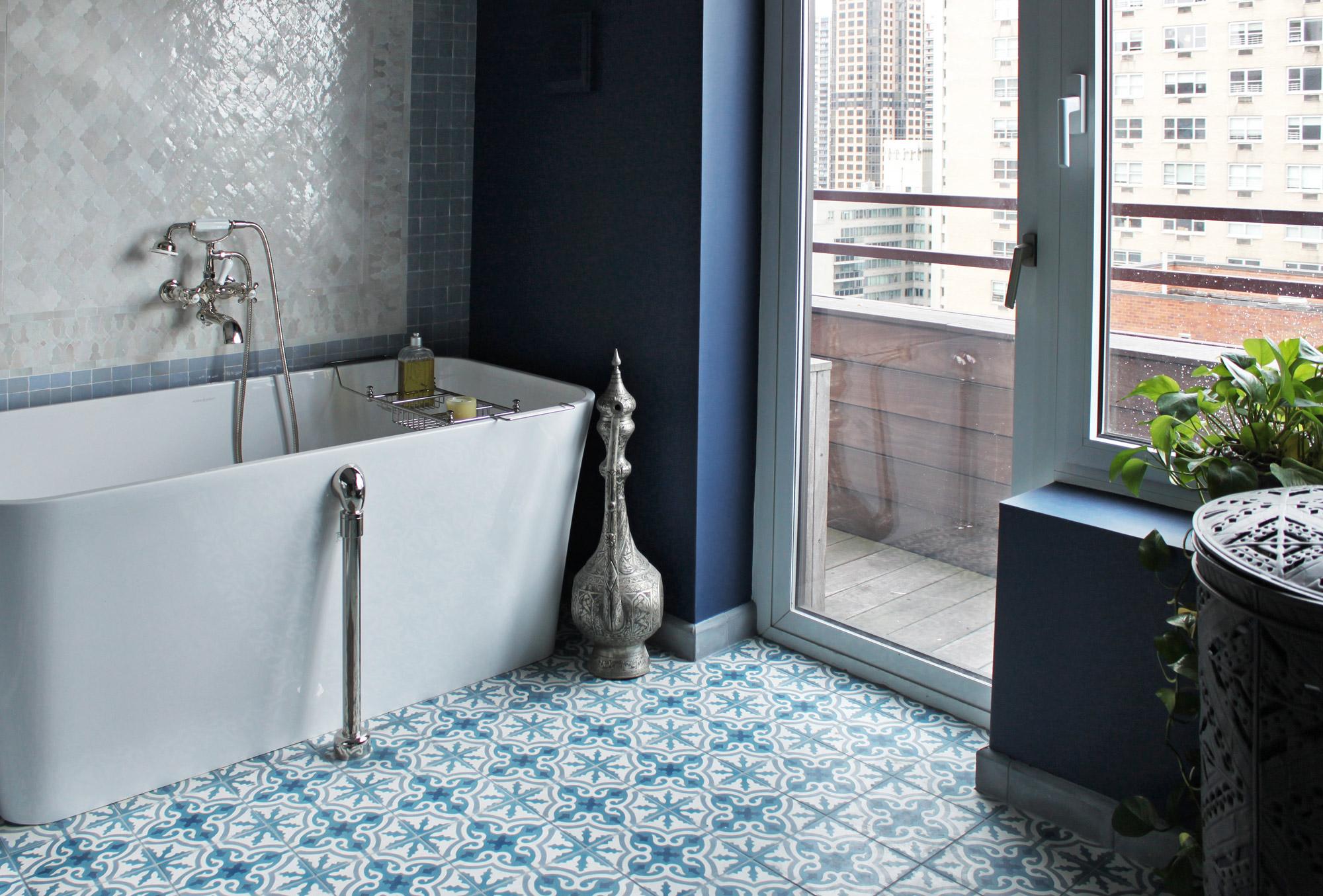 Patterned Bathroom Tile Floors  Busy or Beautiful