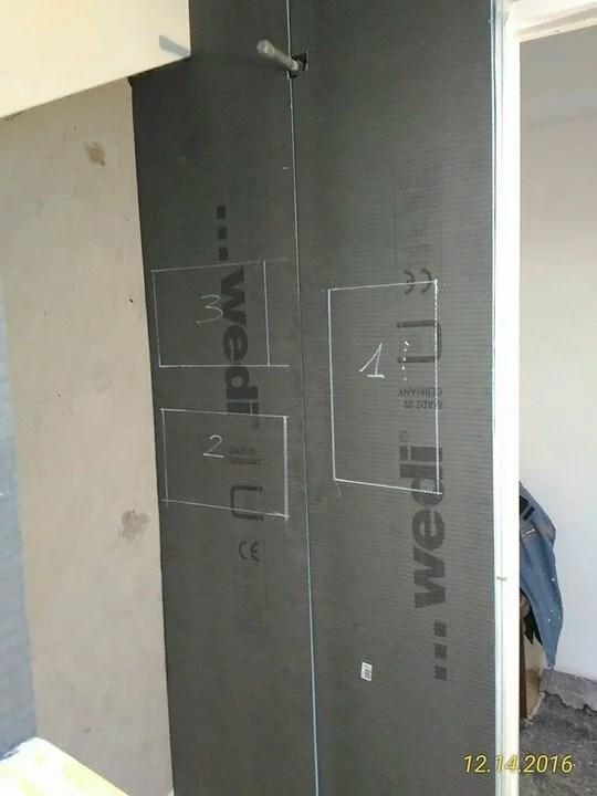 Pannello Piatto doccia Wedi FUNDO RIOLITO NEO 120 CM X 90 CM STANDARD 250 cm x 60 cm x 12,5 cm