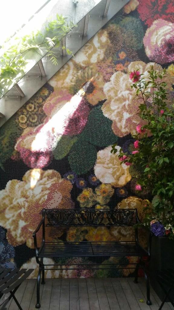 Mosaico floreale 10x10