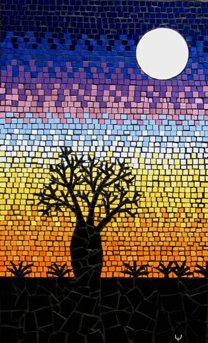 Boab Tree mosaic mural  Brett Campbell Mosaics