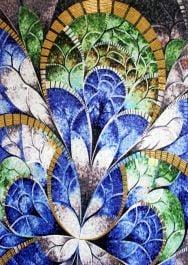 kaleidoscopic riddle handmade mosaic art
