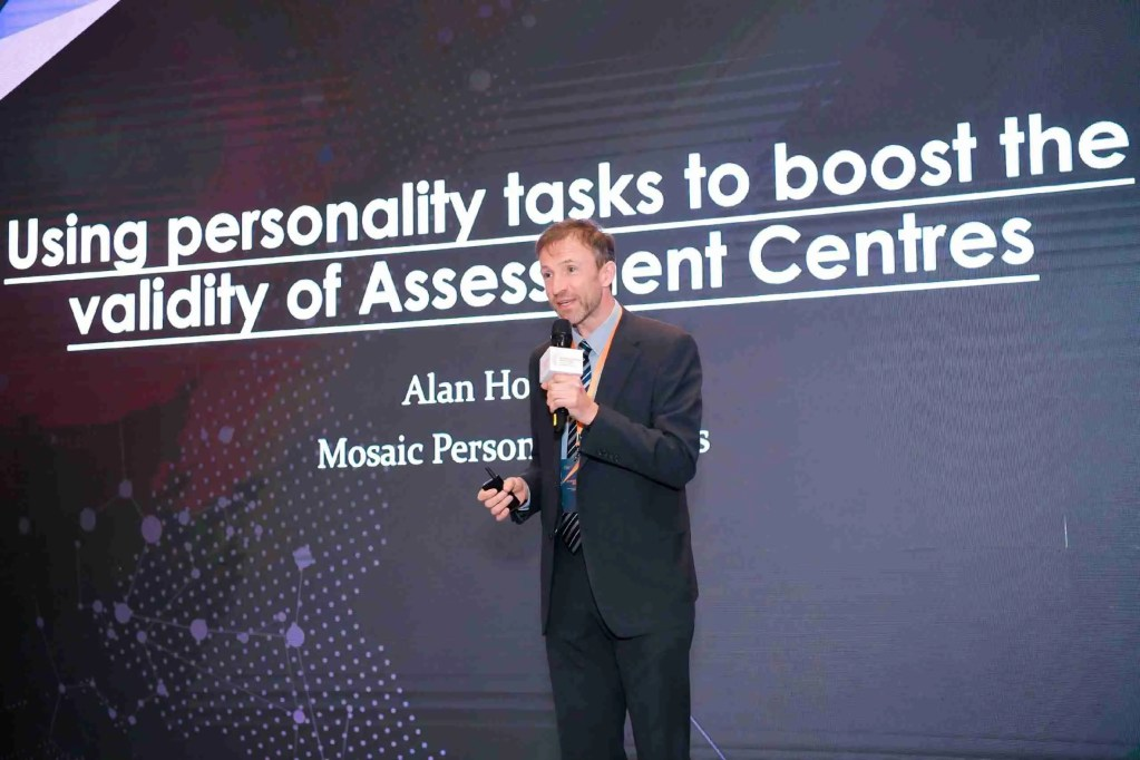 Alan presenting at an assessment conference in China 2019