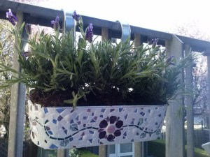 mozaïek Lavendelbak