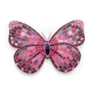 mozaïekpakket vlinder purperrode, mosaickit butterfly