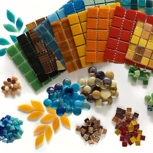 Kleurpakketten glasmozaïek