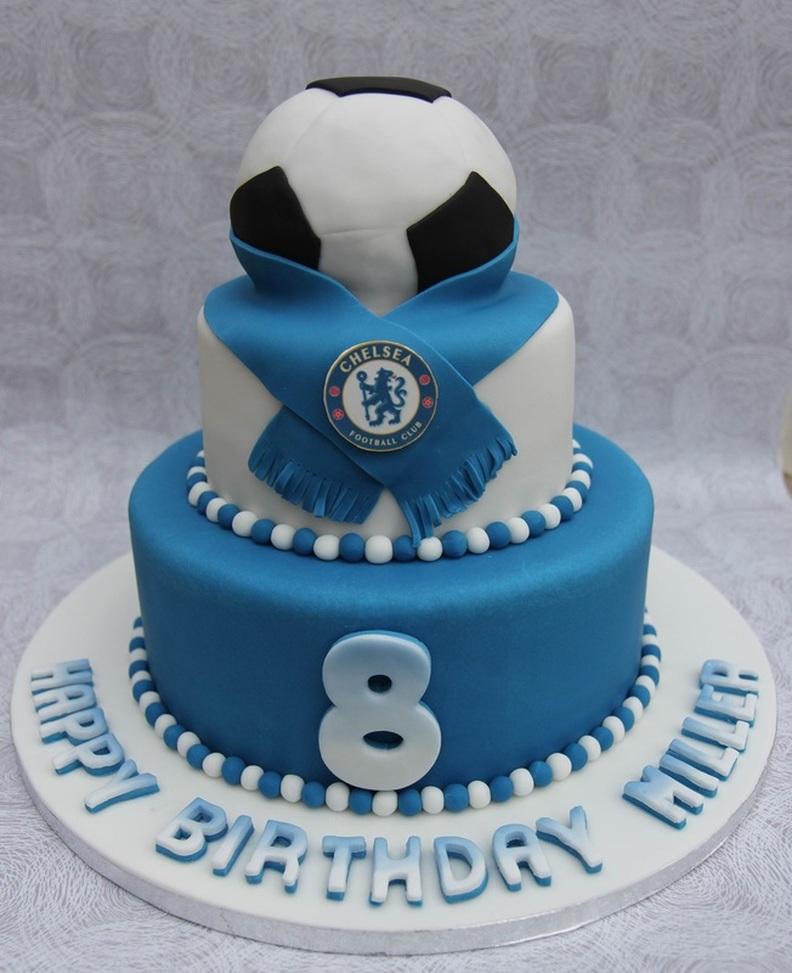 Chelsea Football Birthday Cake Personalised Cakes For Birthdays