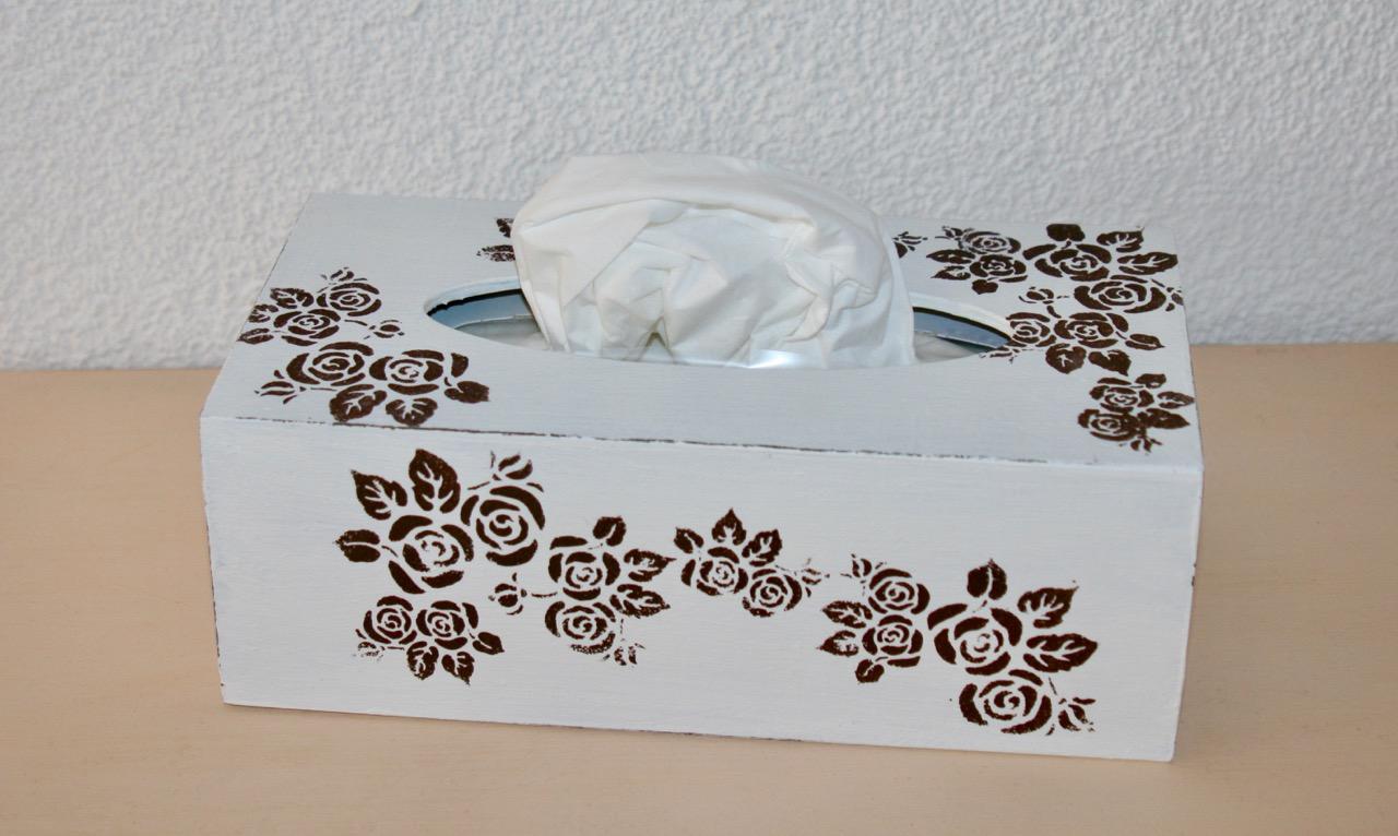 Kosmetikbox breit, Rosen