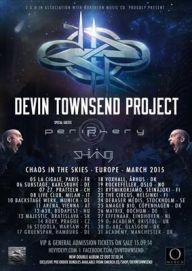 Devin Townsend Periphery Shining Tour 2015