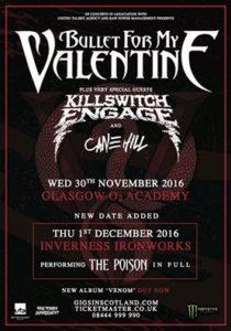 BFMV Bullet for my Valentine Killswitch Engage Scotland 2016