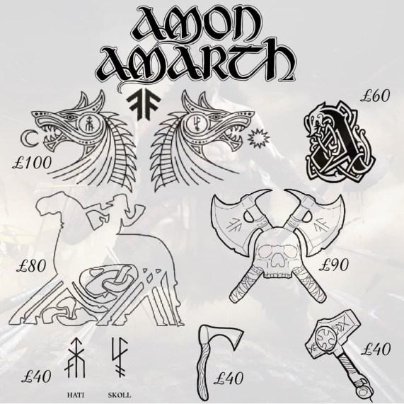 Amon Amarth tattoos 1