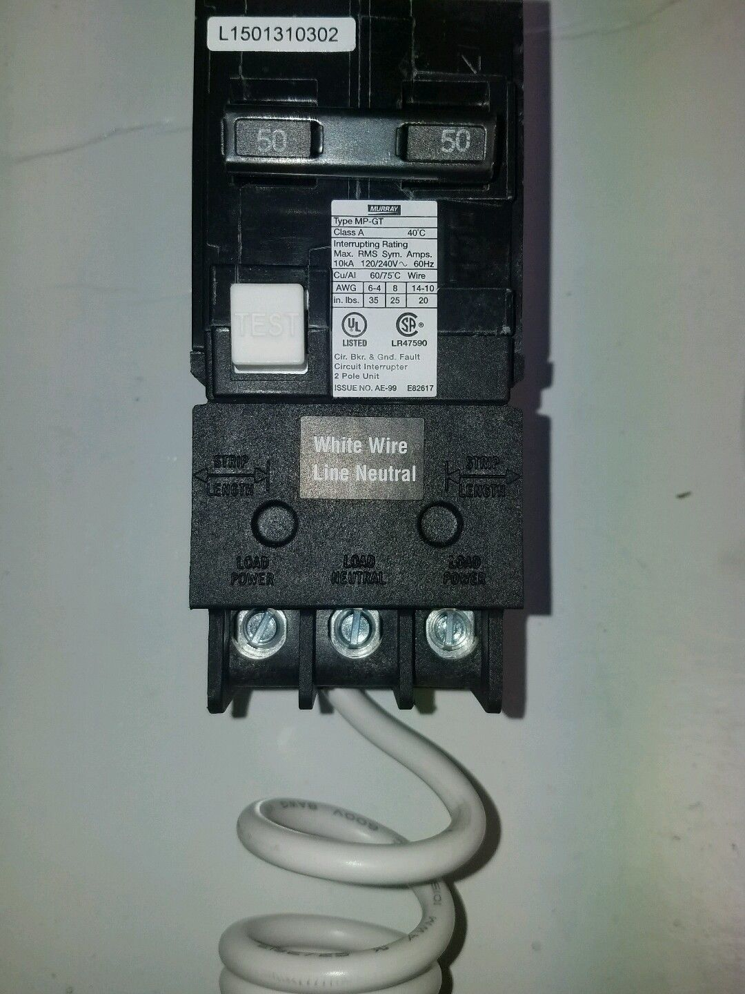 20 murray gfci circuit breaker pictures and ideas on stem education50 amp double pole gfci breaker