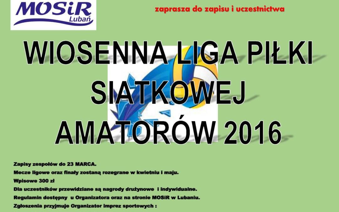 Wiosenna Liga Piłki Siatkowej Amatorów 2016