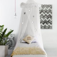 Bed Canopy Mosquito Net Curtains with Feathers and Stars ...