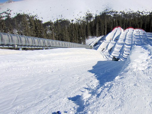 The tubing runs and magic carpet ride at Adventure Point, Keystone, CO.