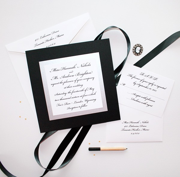 Elegant Black And White Wedding Invitations Creative