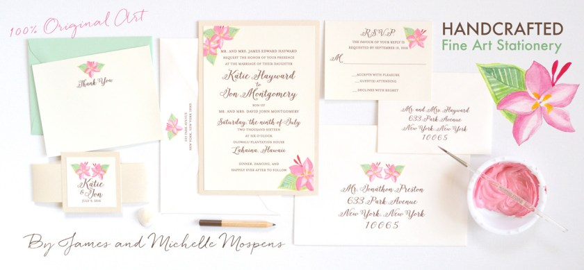 Sunflower Watercolor Wedding Invitations Mospensstudio